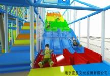 四人玻璃钢滑梯